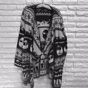 Nightmare before Christmas open cardigan sweater